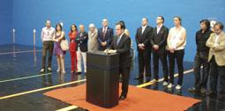 El delegado territorial de la Junta inaugura el Centro Multifuncional en Muriel
