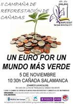Cartel oficial de la campaña de repoblación de la Cañada de Extremadura