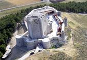 Imagen aérea del Castillo de Íscar