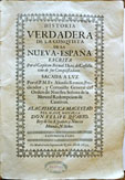 Portada de 'La verdadera historia de la conquista de Nueva España'