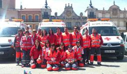 Dispositivo de Cruz Roja en la Medina Maratón de Medina del Campo el pasado 21 de abril