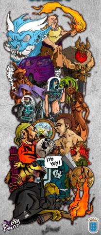 Imagen oficial del cartel de la exposición 'Las caras del cómic'.