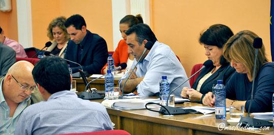 Concejal de Hacienda, Jesús Hernando, interviene en un Pleno.