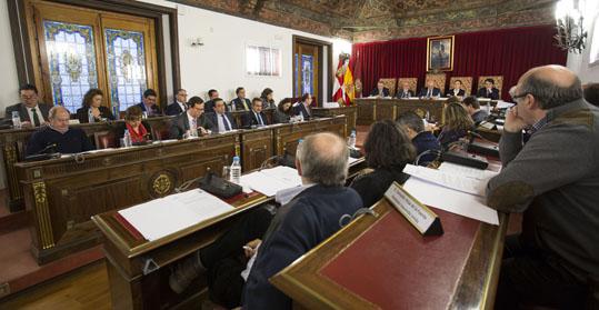 Pleno de diciembre de la Diputación de Valladolid.