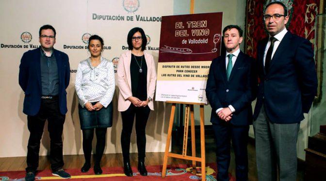 Un nuevo 'Tren del Vino' añade atractivos al enoturismo de Valladolid