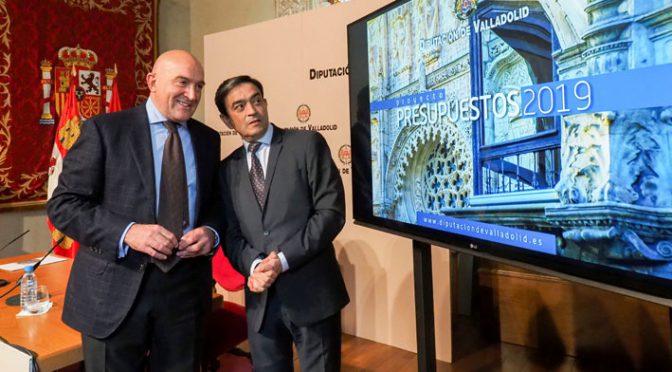 La Diputación de Valladolid presenta unos Presupuestos de 107,7 millones para 2019, la mitad para políticas sociales