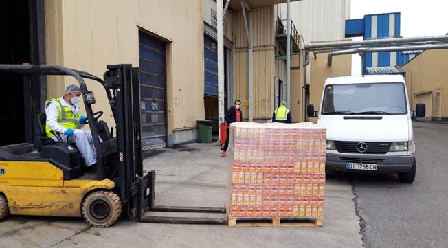 La Diputación envía 5.500 kilos como ayuda de emergencia al Banco de Alimentos